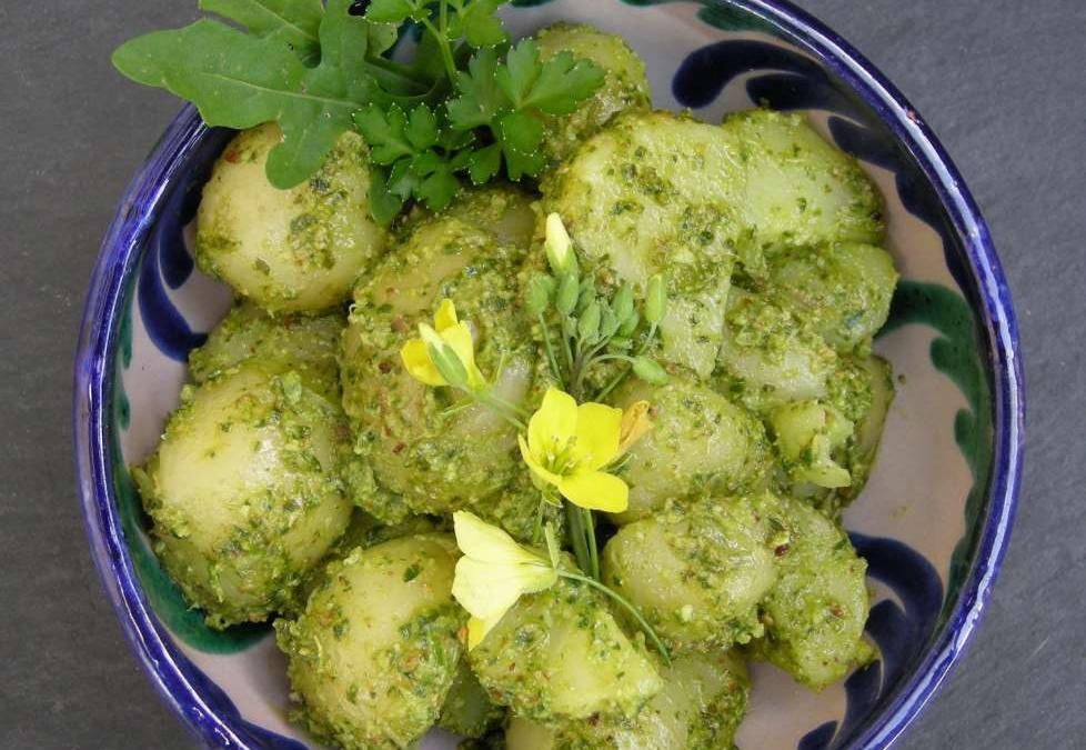 Kartoffelsalat med pestodressing