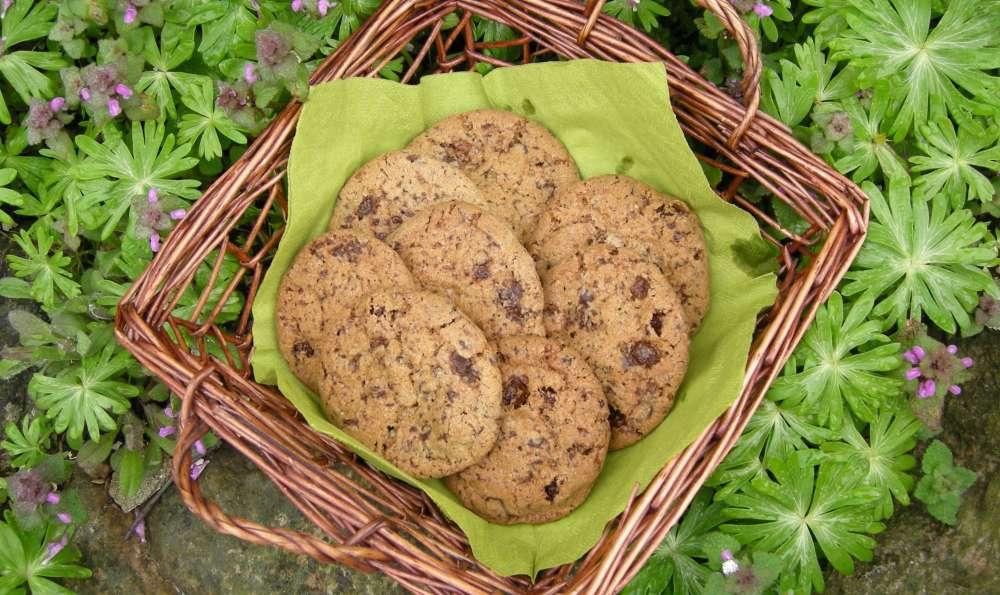 Cookies med chokolade og rosiner – sprøde og lækre
