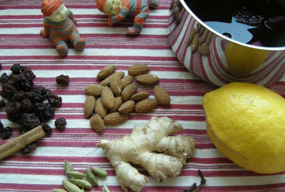 1. søndag i advent, en tur i skoven og derefter gløgg og æbleskiver