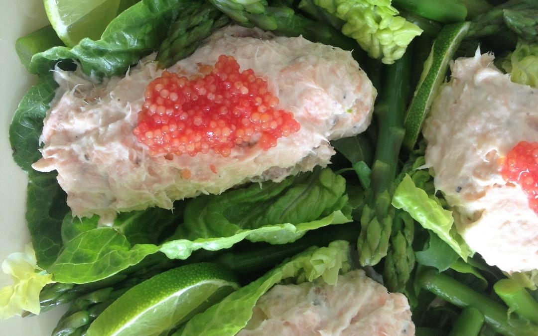 Laksemousse med asparges