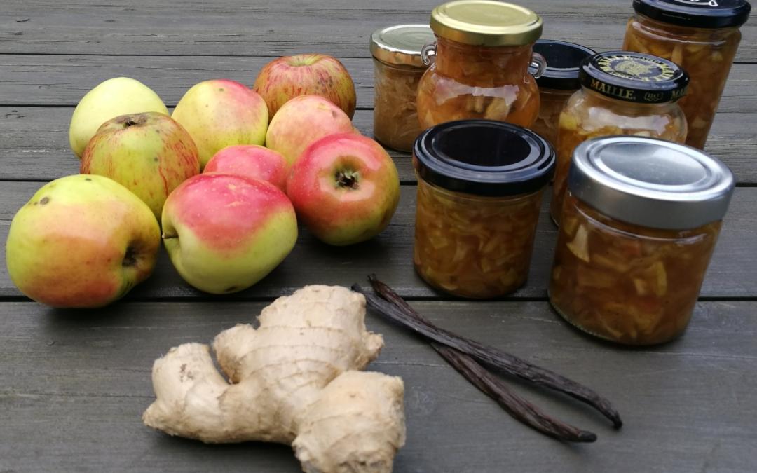 Syltede æbler – tilbehør til fx ost.